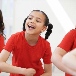 Children mid dance