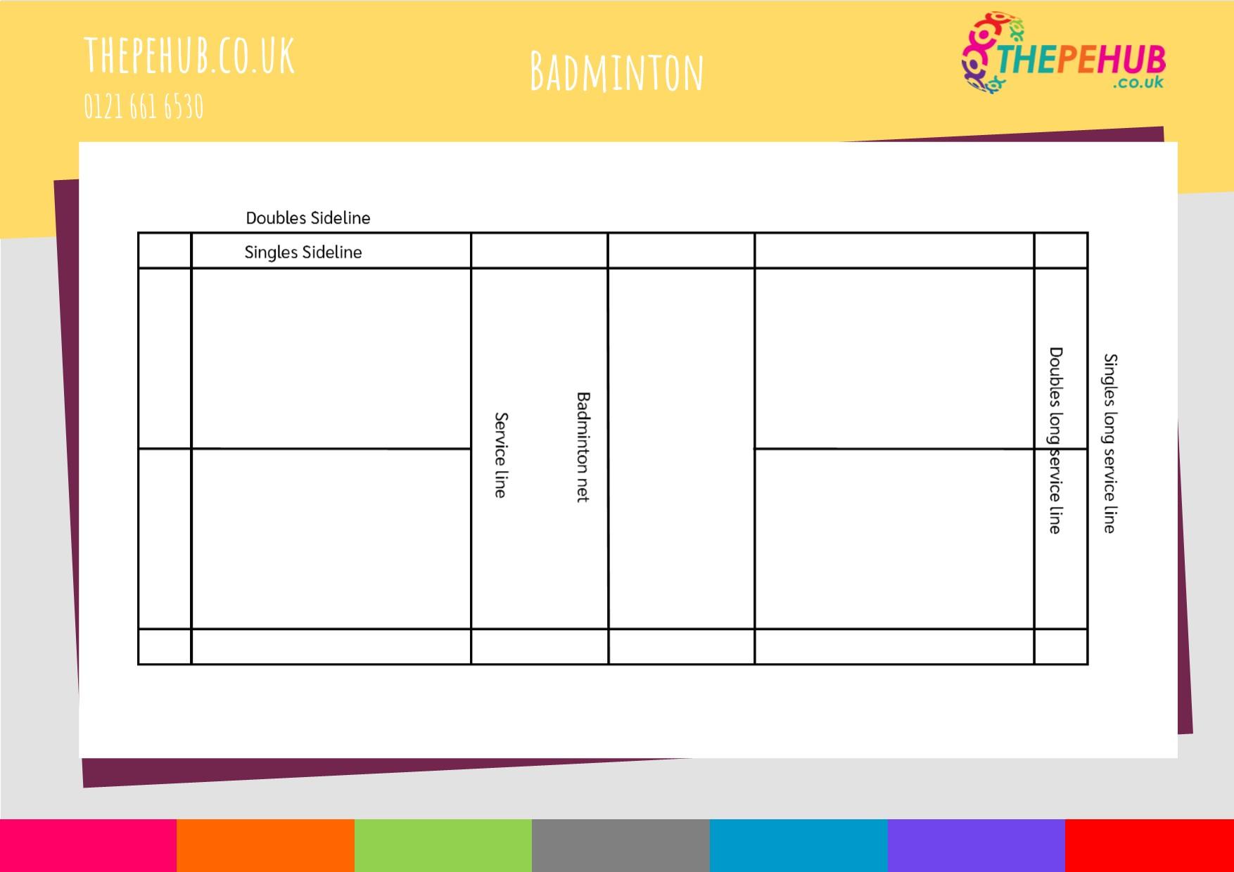 School games badminton court layout