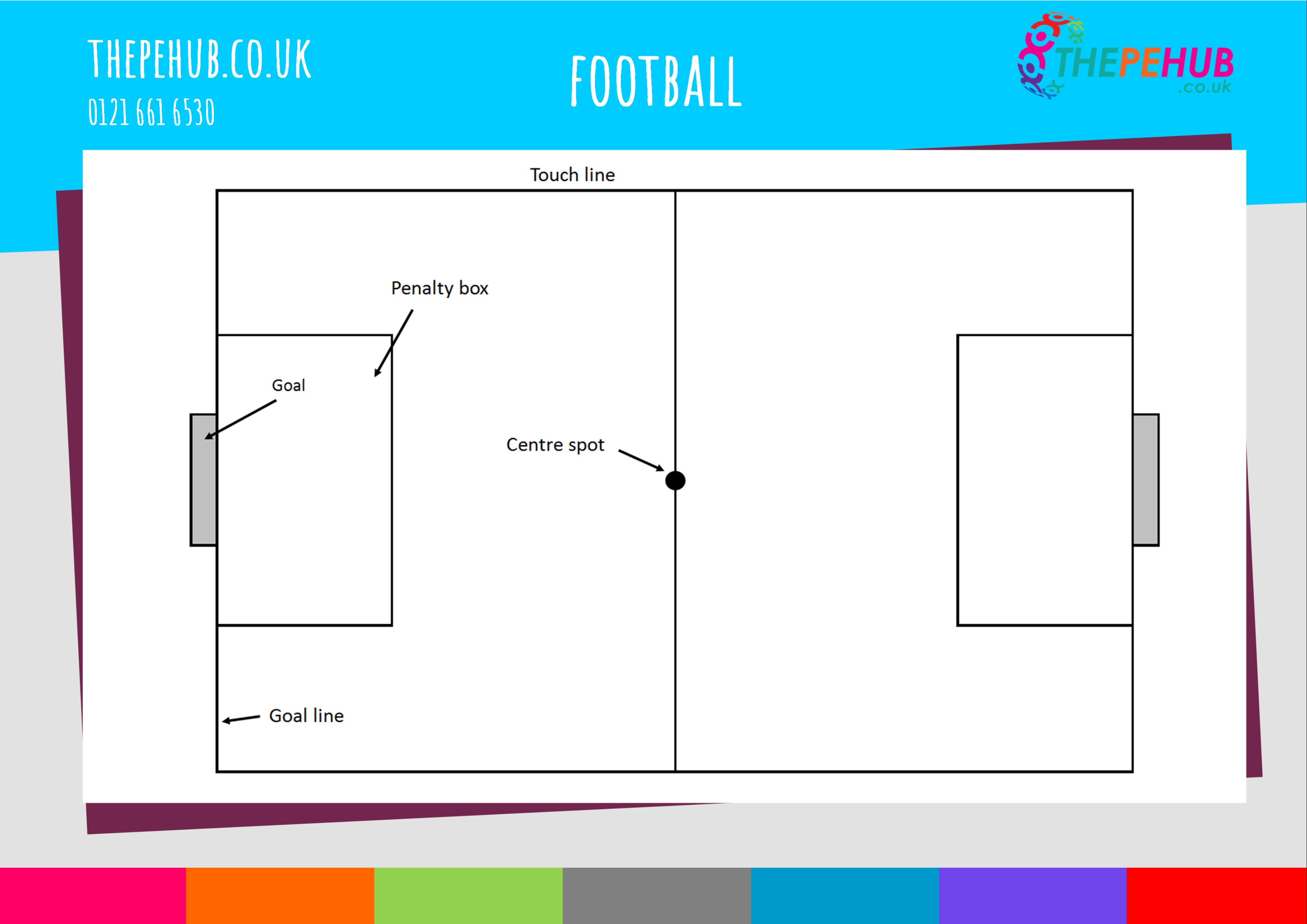 School games football pitch layout