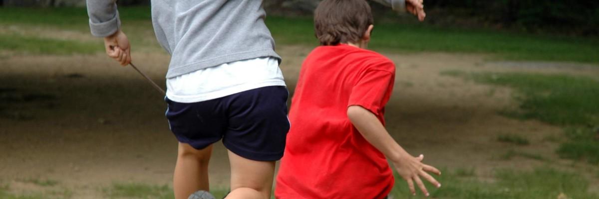 Children chasing