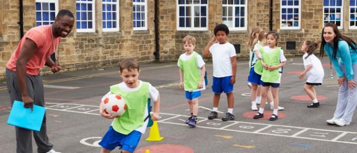 Children in PE Lesson 2
