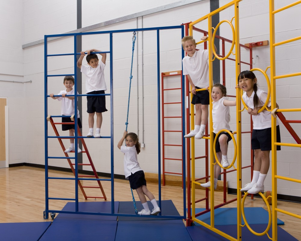 Children in a gymnastics using The PE Hub PE resources
