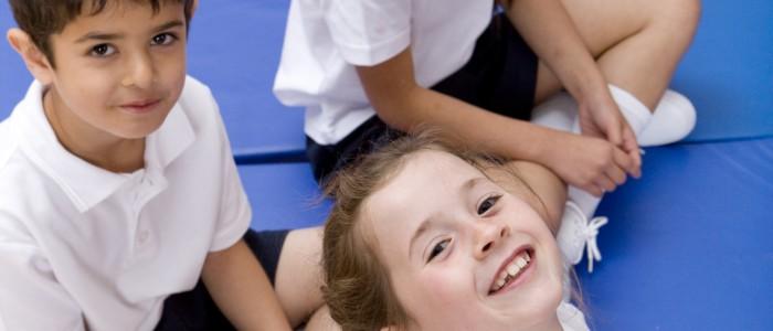 Children in Gym Lesson