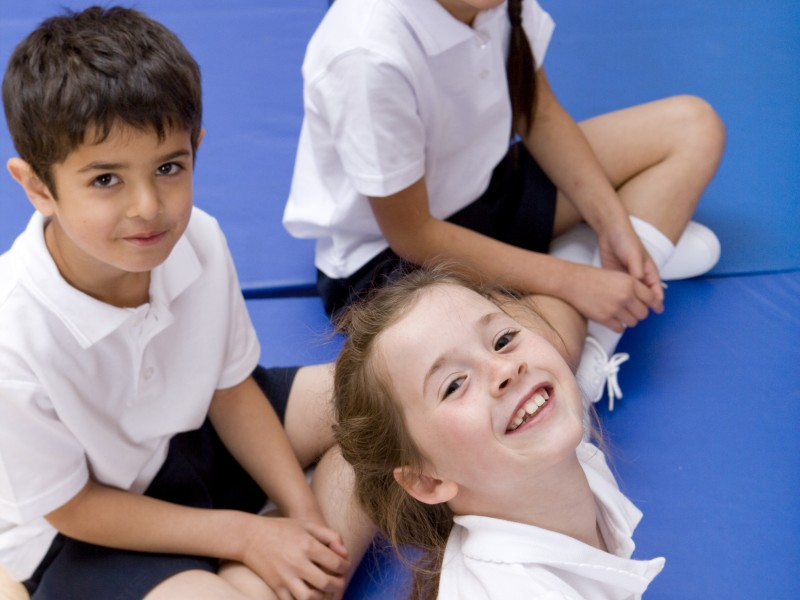 Children in Gym Lesson